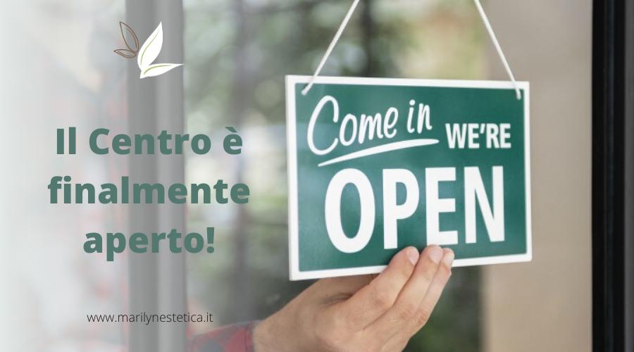 Il Centro è aperto: attende solo te!